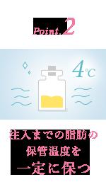 2.注入までの脂肪の保管温度を一定に保つ